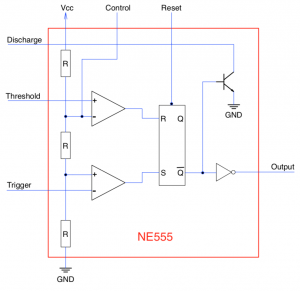 Logical units with NE555