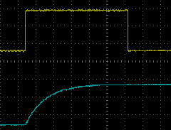 NE555 Power on Reset Oscilloscope Output