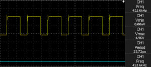 Oscilloscope output when potentiometer set to 0 Ohm